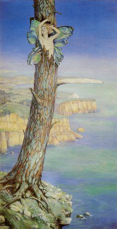 "frankzumbach.wordpress.com    Maud Tindal Atkinson ,""Ariel"", 1915"