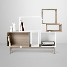 We offer a range of revolutionary Muuto stacked shelving solutions in a variety of in colours, shapes and sizes to fit any contemporary interior setting. Get the most out of your space with our Muuto stacked clips. Modular Shelving, Modular Storage, Shelving Systems, Cube Storage, Open Shelving, Storage Shelves, Shelving Design, Record Storage, Danish Furniture