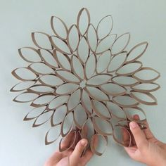 Paper towel roll flowers