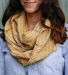 Mustard Yellow Lightweight Infinity Scarf | handmade Maelu scarf