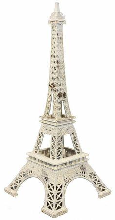 White Metal Eiffel Tower Décor