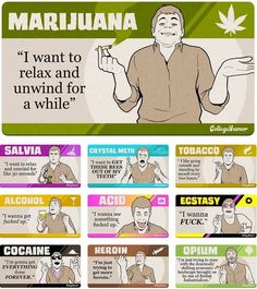 Marijuana vs other drugs   http://www.stonernation.com