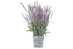 "23"" Lavender in Planter, Faux"