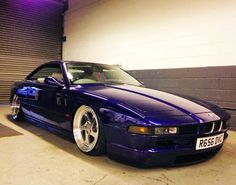 BMW 8 series purple deep dish slammed