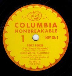 Vintage Halloween Music 78's