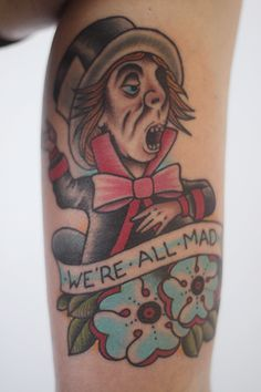 Alice in wonderland tattoo through the looking glass for Looking glass tattoos