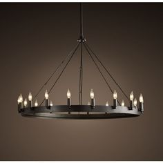 Camino Round Chandelier Small ($695) ❤ liked on Polyvore