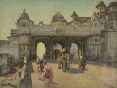 Udaipur Palace Gate, Yoshida Hiroshi
