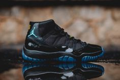 """Air Jordan 11 Retro """"Gamma Blue"""": Though the vast majority of the sneaker world may already be hip to its upcoming release, today we Jordan 11 Gamma Blue, Nike Air Jordan 11, Air Jordan Shoes, Jordan Swag, Jordan Sneakers, Tenis Jordan Retro, Zapatillas Jordan Retro, Pink Beige, Nike Free Shoes"""