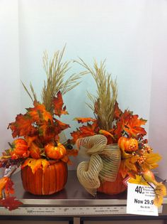 Front and back of pumpkin baskets by Ann@6734