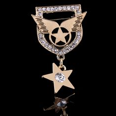 Find More Brooches Information about 31*50mm handmade Star Shield vintage brooch color rhinestone brooches for women diy Fashion Jewelry breastpin brooch pins,High Quality brooch manufacturers,China brooch for wedding invitations Suppliers, Cheap brooch ribbon from Playful beauty department store on Aliexpress.com