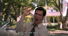 Jim Carrey Liar-Liar funny moment: nothing can stop the clawwwww Jim Carrey Liar Liar, Jim Carrey Quotes, Jim Carey, Funny Comedians, The Claw, Movie Lines, Cameron Dallas, Laughing So Hard, Man Humor