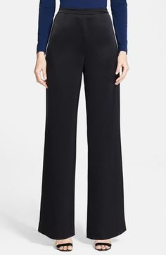 St.+John+Collection+'Kate'+Liquid+Satin+Pants+available+at+#Nordstrom