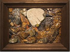"Price:  $700  WIN ZIBEON  Clausland Mountain No. 2  Oil on Carved Wood, 29"" x 12""  Contact: charlotte@rushartsgallery.org"
