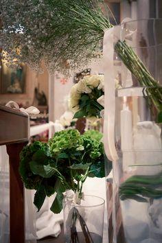 Allestimento chiesa matrimonio bianco e verde  White and green wedding church decorations