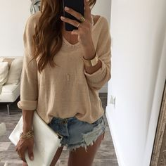 The Eden Knit Sweater - Twig | OHM BOUTIQUE