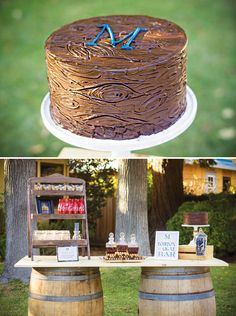 {Bluegrass and Bourbon} Manly Birthday Party // Hostess with the Mostess® 30th Birthday Cakes For Men, Rustic Birthday Parties, Cool Birthday Cakes, 50th Birthday Party, Man Birthday, Happy Birthday, Birthday Greetings, Birthday Cards, Cigar Party
