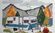 Campo Punto Croce | Punto Croce Kit e modelli | Campeggio e spiaggia a tema