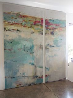 Martha Rea Baker. Huge abstract like the different sized canvases