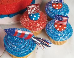 4th of July cupcakes!!