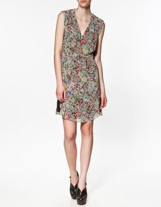 new floral dress in my closet
