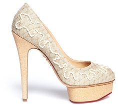 a2c6e2200d06d Love this  Shipwrecked Dolly Pearl Canvas Pumps  Lyst Charlotte Olympia