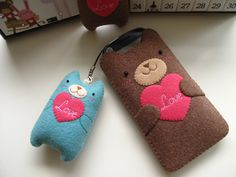 Love Teddy Handmade Cell Phone/iPhone Case-Sky Blue