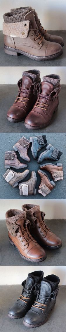 Sweater-accented booties