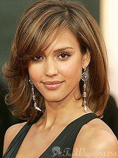 Elegant Lace Front Medium Wavy Mixed Color 100% Human Hair Wig