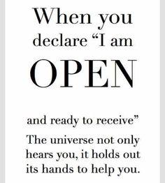I am open to good yea tak