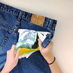 740c2141b4 How to Paint On Jeans (5 steps with pictures)