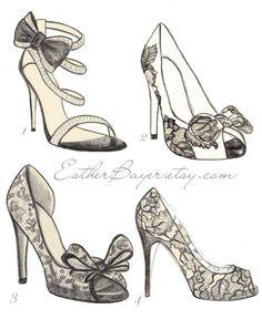 Shoe Illustration :: Esther Bayer #fashion #illustration #shoes