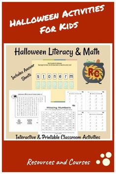 This set of activities for kids is just the tonic for some Halloween treats. Included in the set is the following: - Printable Maths Worksheet - Word Search - Printable Number Sense Worksheet - Digital Interactive Word Scramble  - Printable Word List with Values  Also includes some suggestions for extension activities. #firstgrade #rescour #2ndgrade #secondgrade #interactive Printable Math Worksheets, Printable Numbers, Worksheets For Kids, Halloween Activities, Classroom Activities, Halloween Treats, First Grade Lessons, First Grade Activities, Word Scramble Printable