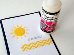 Impress Rubber Stamps - glossy accents