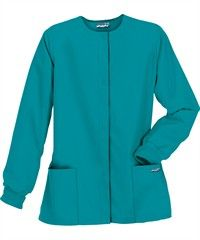 Butter-Soft Scrubs by UA Ladies Warm-Up Jacket, Style #  PC82C #scrubs, #fashion, #teal, #nurses, #uniformadvantage