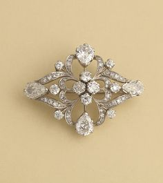 A Finnish Diamond Brooch, A. Tillander, Helsinki c. 1940s-50s. The history A. Tillander jewellers and goldsmiths date back to 1860 when master goldsmith Alexander Edvard Tillander founded his company in ST.Petersburg, Russia. http://www.tillanderjewellers.com/site.html