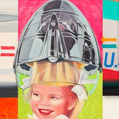 James Rosenquist's 'F-111' (Detail)  What intrigued me was the paradox of all these middle-class families prospering from building this death-dealing machine [the F-111], which is why I put the little girl under that bomb-shaped hair dryer. That image was a metaphor for the jet pilot's helmet.