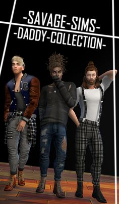 Clothing and Boots for Males by SavageSims.