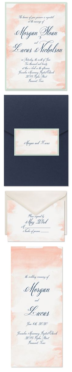 Romance spills off this watercolor invitation. Add your information in choice of ink to make it one of a kind. Coral Wedding Themes, Coral Wedding Invitations, Beautiful Wedding Invitations, Watercolor Invitations, Ink Color, Celebrity Weddings, Flower Decorations, Invitation Design, Romantic