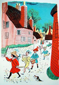 Roger Duvoisin (1900 – 1980) - Swiss-born American writer and illustrator. illustration, drawing, art, design, modern, mid-century, retro, vintage, children, picture, book