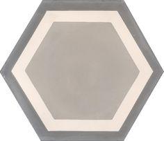 Carreaux de ciment - Les carreaux hexagonaux - Carreau GALA 07.27.32/2 - Couleurs & Matières