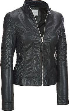 Plus Size Jessica Simpson Faux-Leather Scuba w/ Quilt Detail  - Wilsons Leather