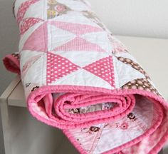 sweet baby girl quilt @cluckclucksew