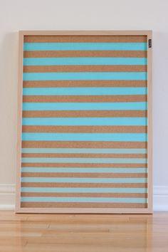 10 Ways to Update & Decorate a Basic Cork Board Memo Boards, Cork Bulletin Boards, Cork Boards, Pin Boards, Corkboard Decor, Painting Corkboard, Fabric Corkboard, Cork Board Ideas For Bedroom, Diy Cork Board