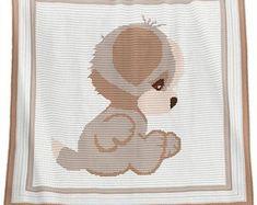 Crochet Blanket Pattern - Crochet Baby Blanket Pattern - Puppy Blanket Pattern - Baby Afghans - Crochet Patterns  - Puppy Pattern  graphs