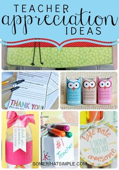 Teacher-Appreciation Gift Idea! Tons of adorable ideas!