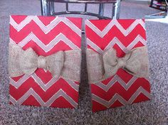 Chevron patterned canvases