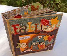 Fall Scrapbook Kit Mini Album Kit Precut with by ArtsyAlbums, $39.99