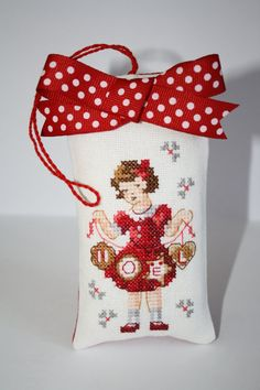Noel Cross stitch Completed Christmas Ornament/Chrismas Decoration/Great Handmade Gift