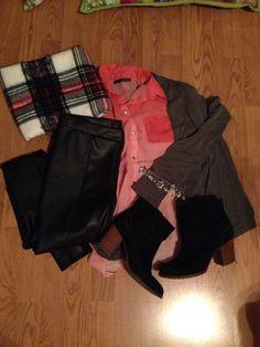 nordstrom rack infinity scarf, primark blouse, old navy cardigan, nordstrom rack leggings, forever 21 booties